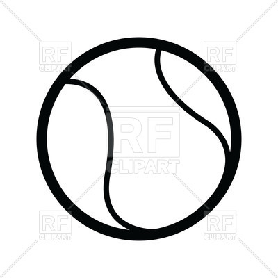 400x400 Outline Of Tennis Ball Royalty Free Vector Clip Art Image