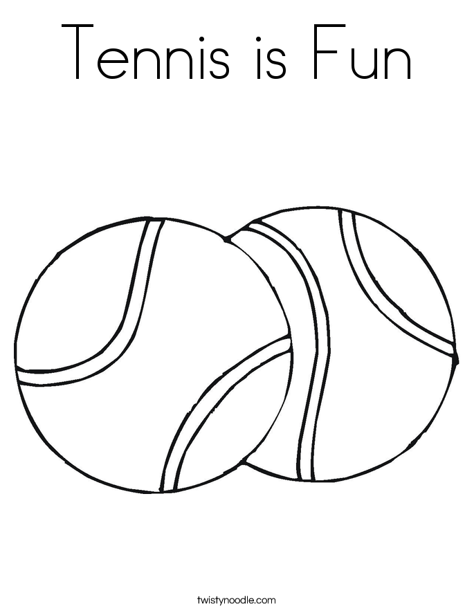 685x886 Tennis Is Fun Coloring Page