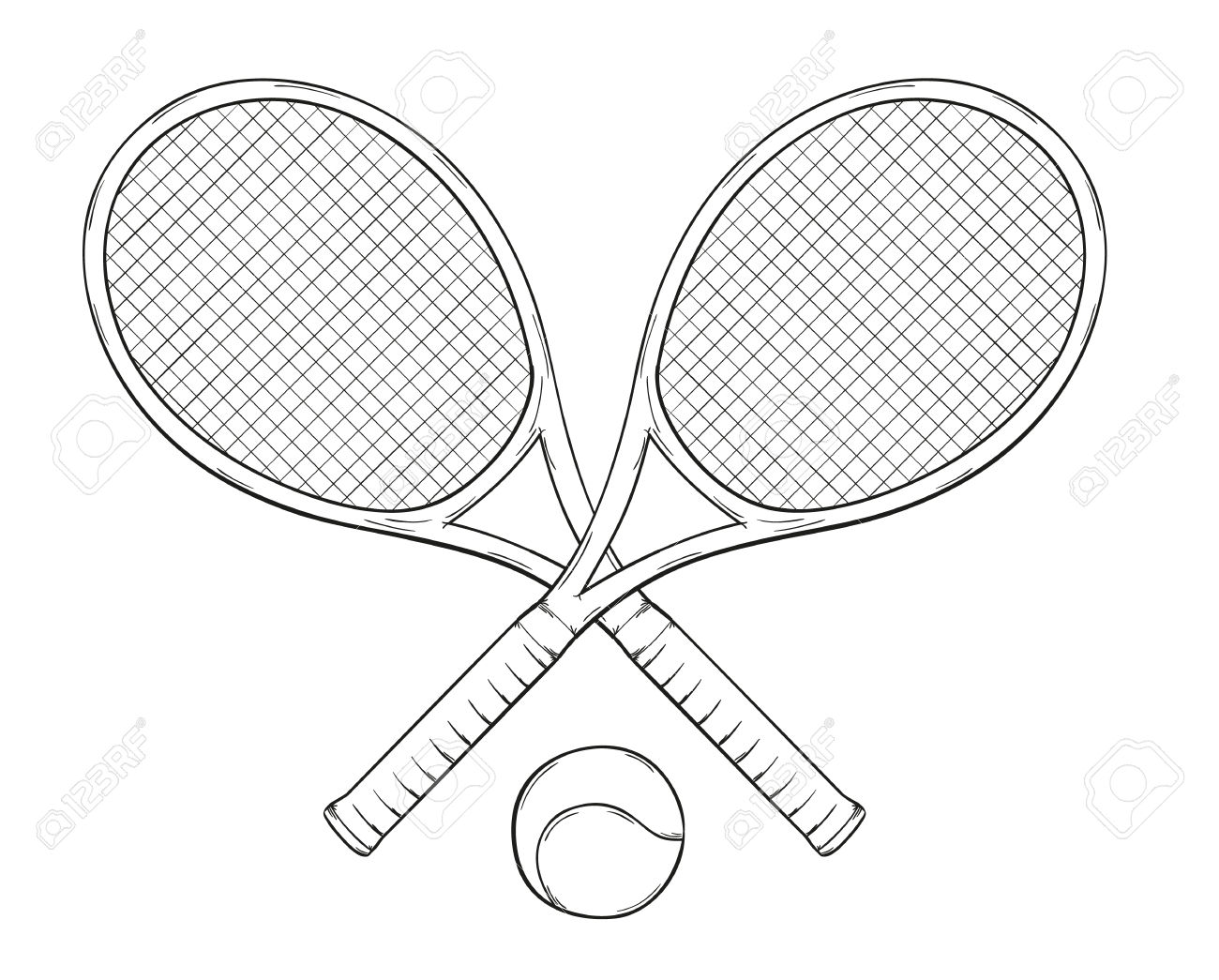 1300x1045 Crossed Tennis Rackets