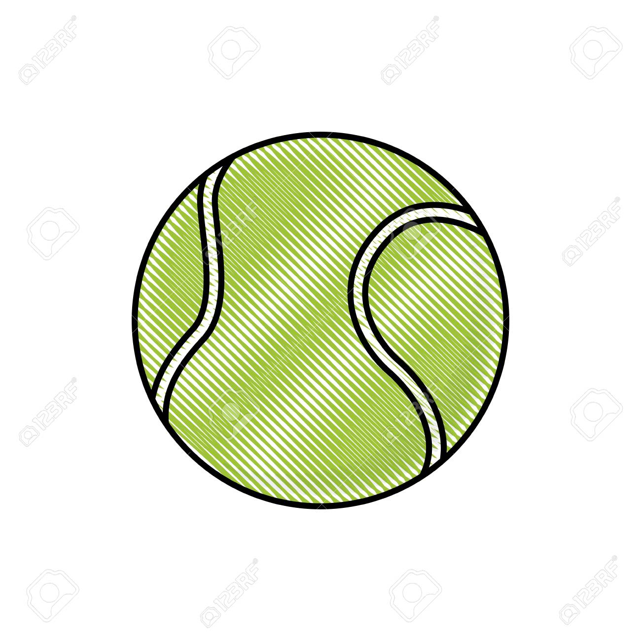 1300x1300 Drawing Tennis Ball Sport Competition Element Vector Illustration