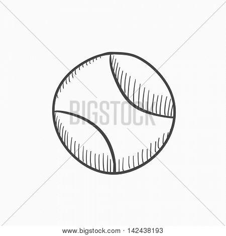 450x470 Tennis Ball Vector Sketch Icon Vector Amp Photo Bigstock