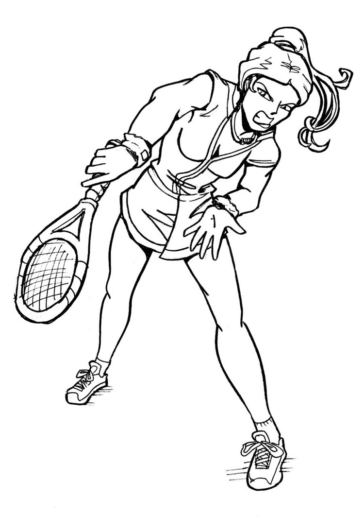 750x1064 Tennis Player Superhero Style By Uzushio