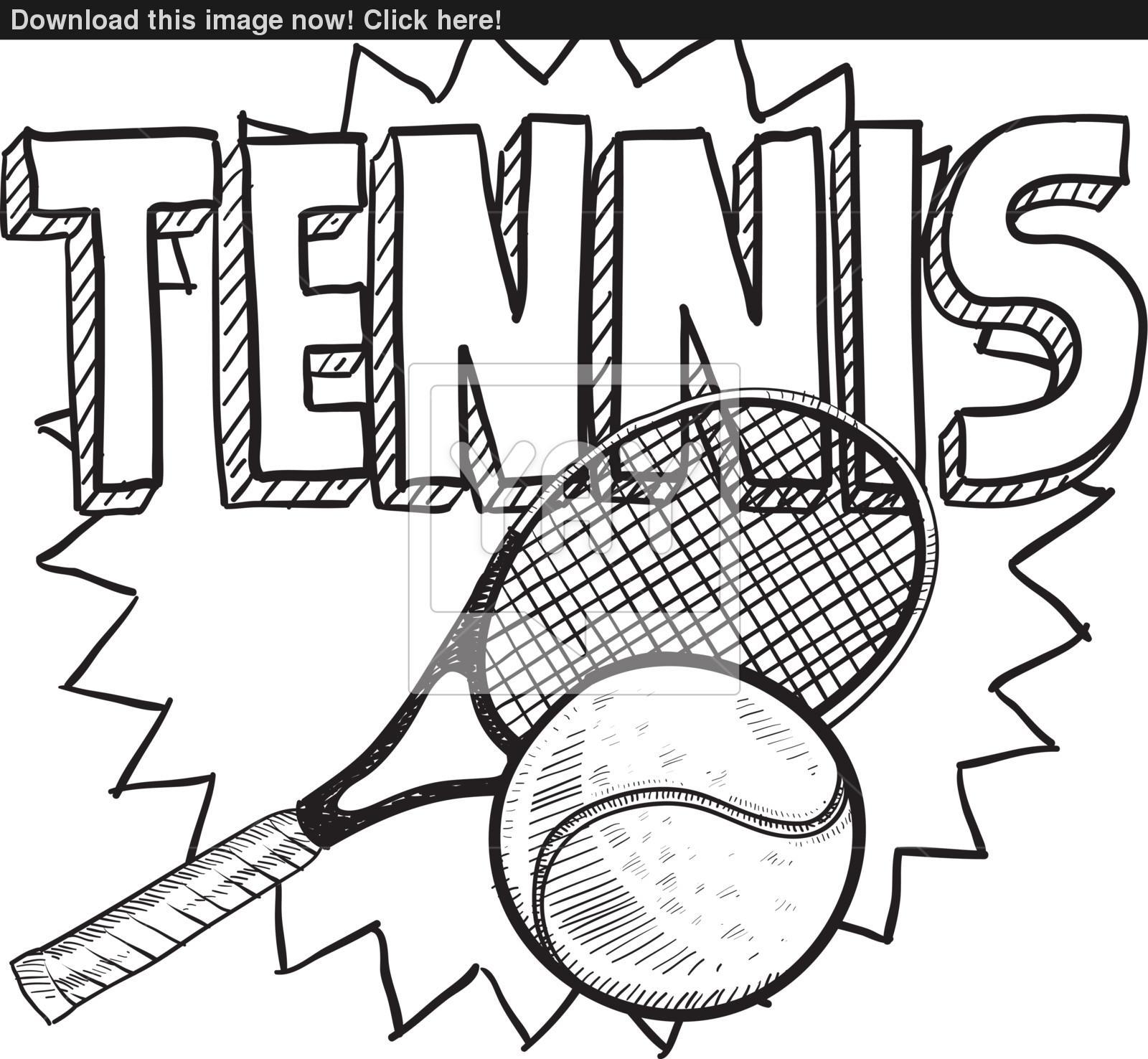 1600x1476 Tennis Sketch Vector