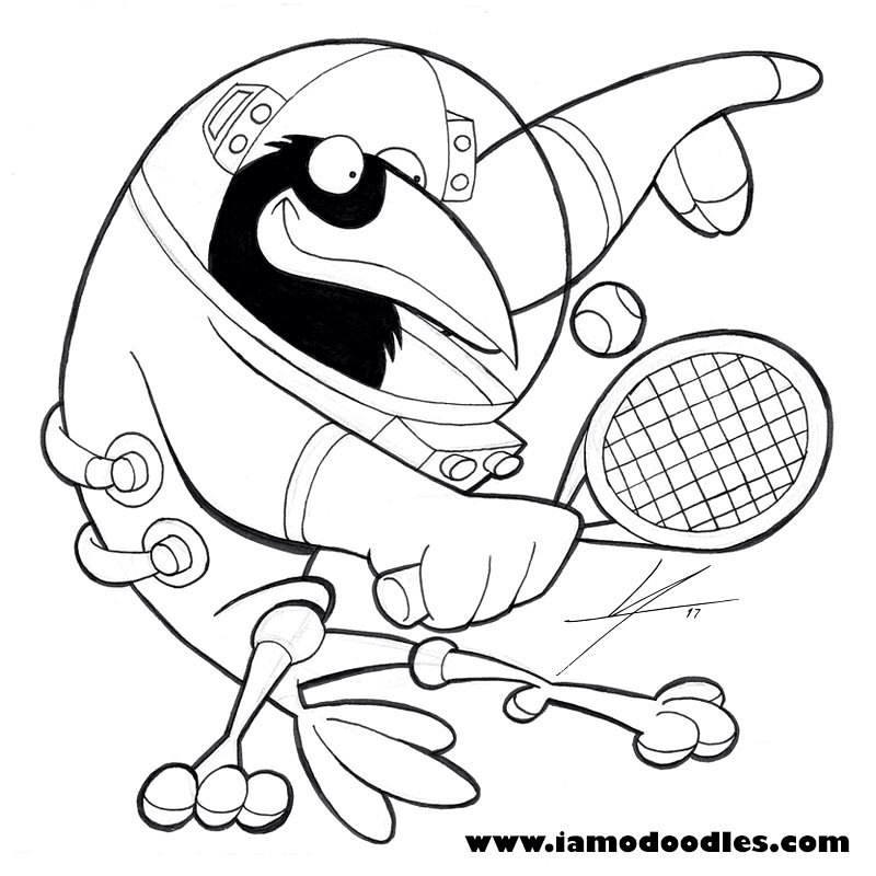 800x800 Crow + Astronaut + Playing Tennis