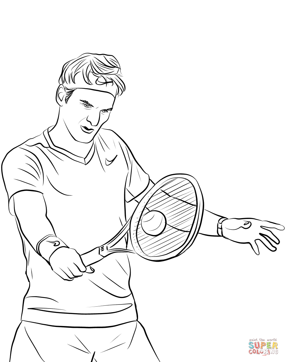927x1177 Roger Federer Coloring Page Free Printable Coloring Pages