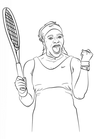333x480 Serena Williams Coloring Page Free Printable Coloring Pages