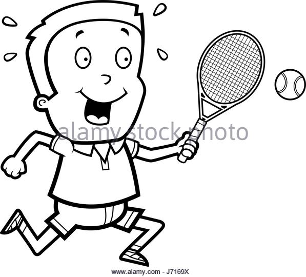 597x540 Tennis Ball Boy Black And White Stock Photos Amp Images
