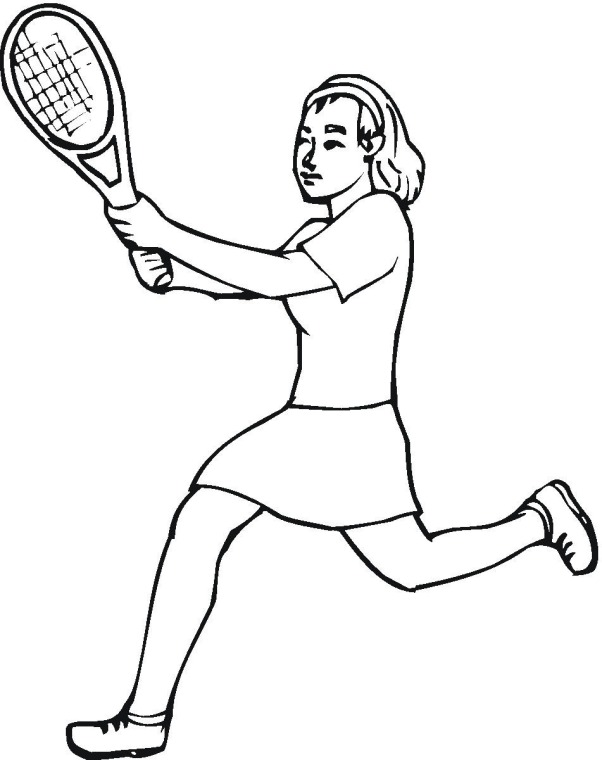 602x760 Tennis Coloring Page