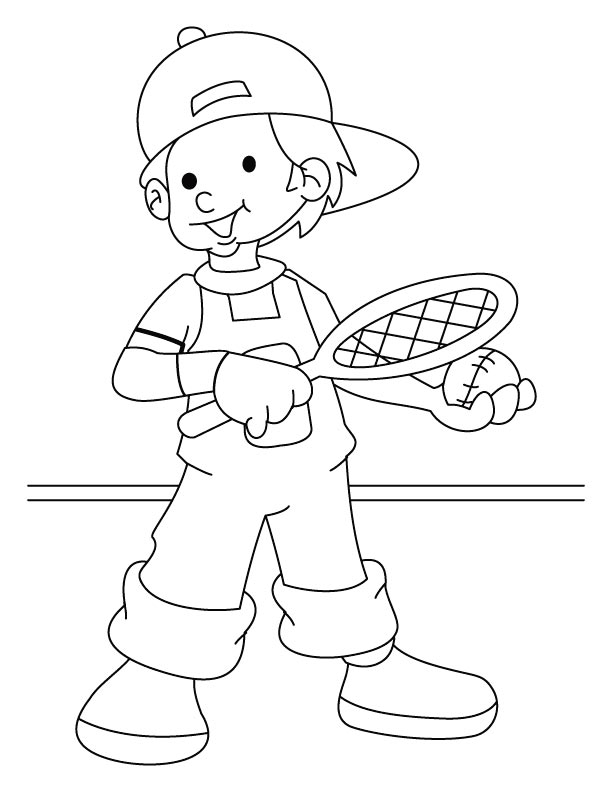 612x792 Tennis Player Coloring Pages Coloring Page For Kids Kids Coloring