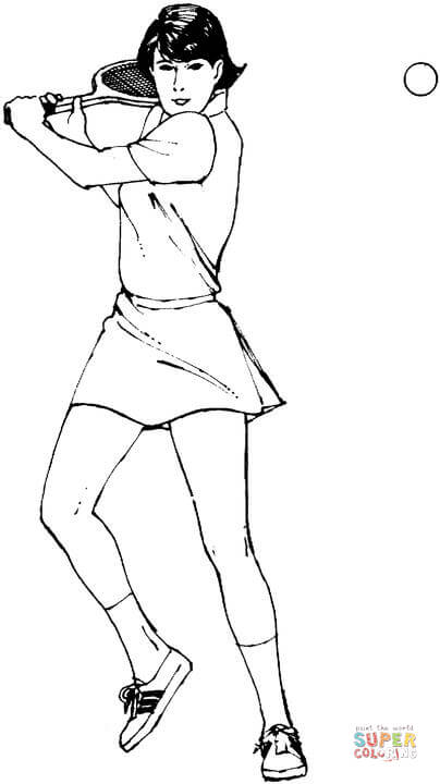 404x720 Woman Tennis Player Coloring Page Free Printable Coloring Pages