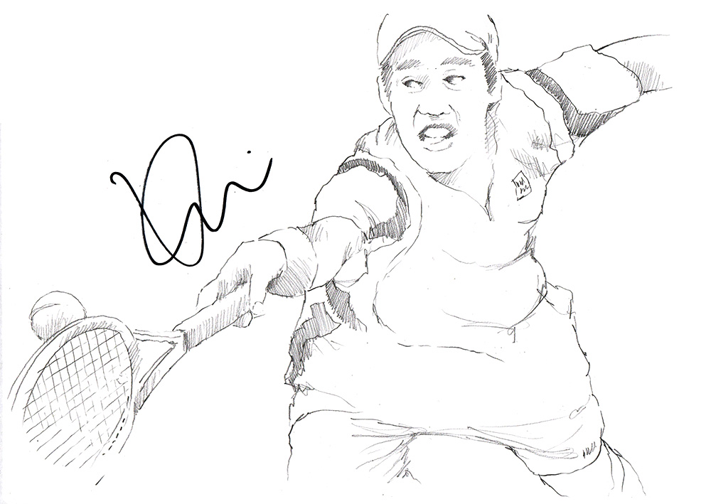 1000x709 Drawing Kei Nishikori Chicanepictures