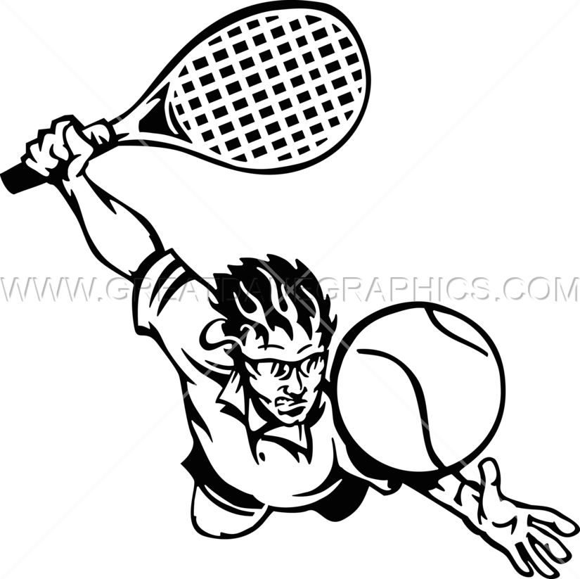 825x823 Jumping Tennis Player Production Ready Artwork For T Shirt Printing