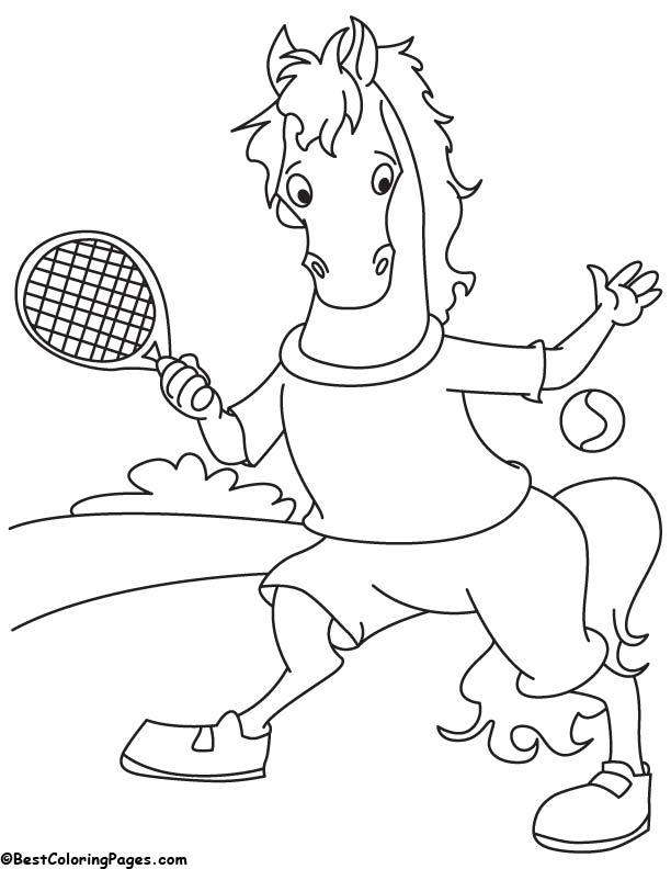 612x792 Lawn Tennis Coloring Pages