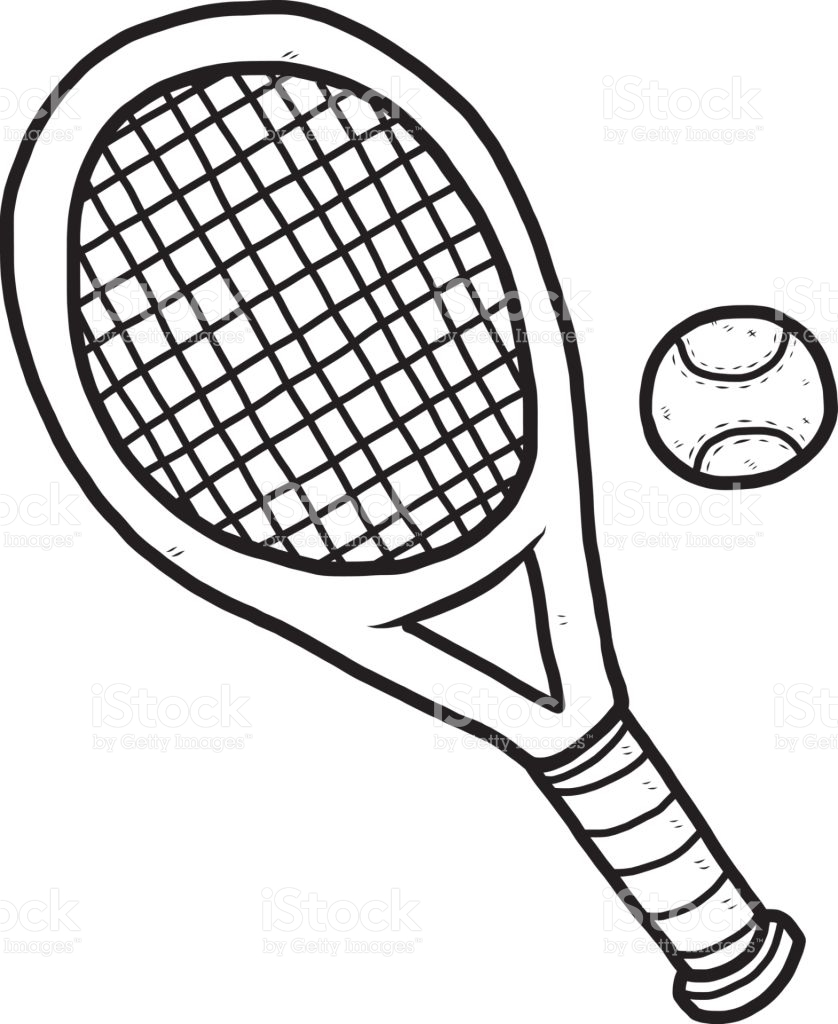 838x1024 Tennis Ball And Racket Black And White Collection
