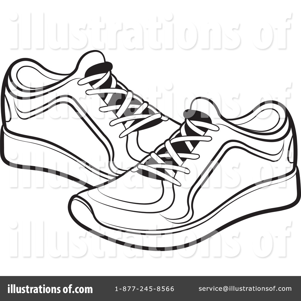1024x1024 Sneakers clipart black and white