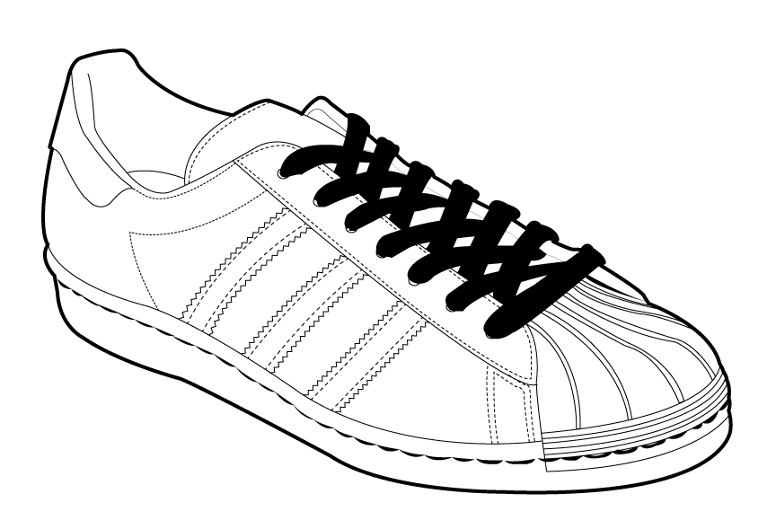 864x589 shoes drawing