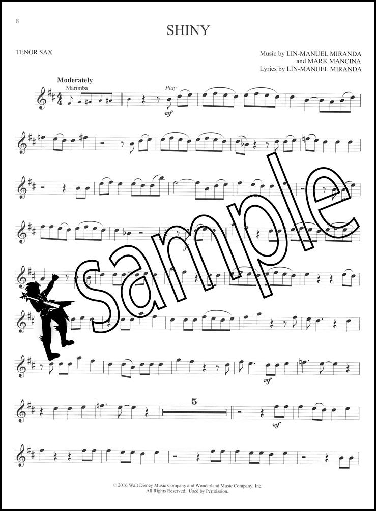 739x1006 Disney Moana Play Along For Tenor Sax Bookaudio Hamcor