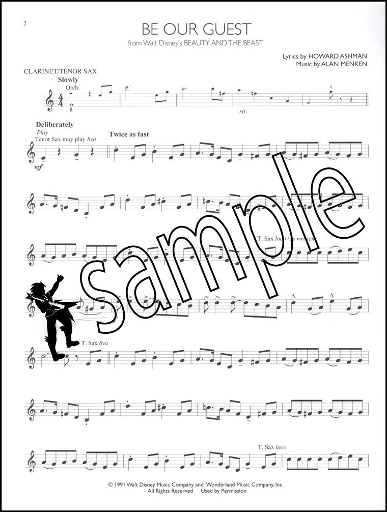 760x1006 Disney Solos For Clarinet Or Tenor Sax Saxophone Sheet Music Book