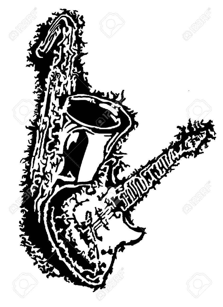 Tenor Saxophone Drawing at GetDrawings com | Free for personal use