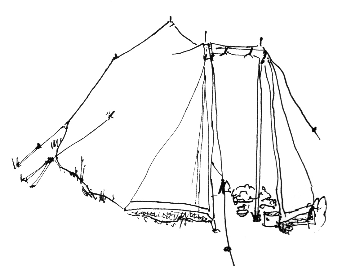 1103x900 Dan's Drawing Tent And Plastic Lilies