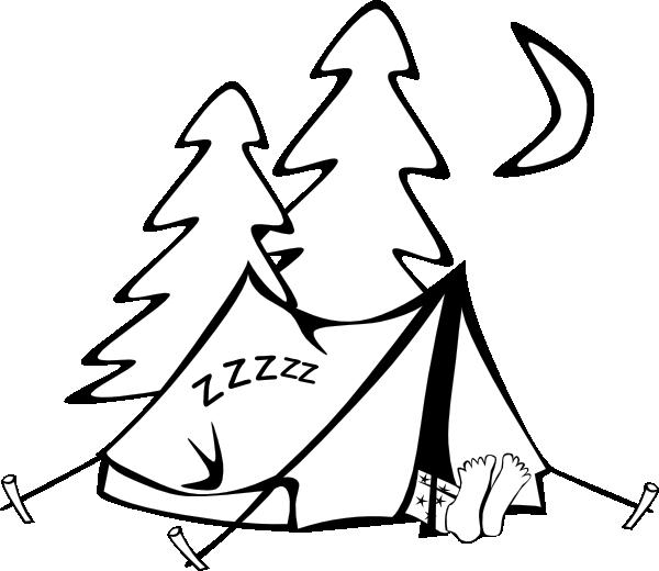 600x520 Sleeping In A Tent Clip Art