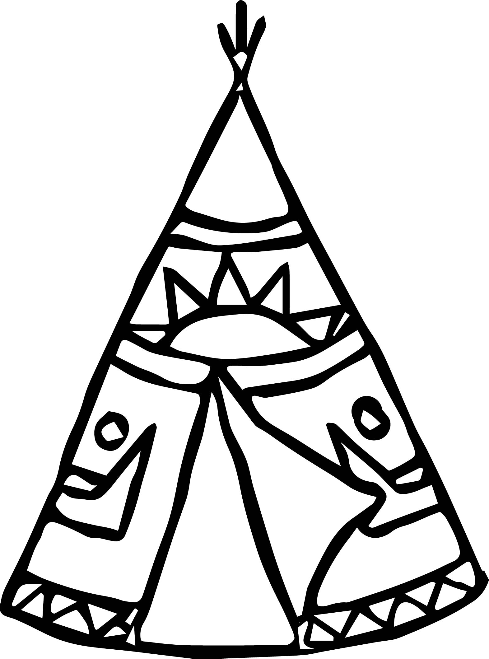 1572x2118 American Indian Tent Coloring Page Wecoloringpage