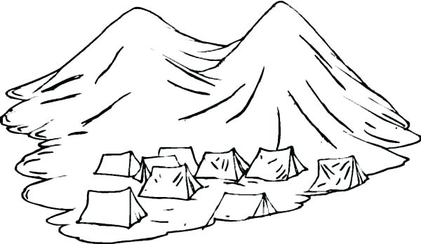600x348 Tent Coloring Page Colouring In Sweet The Forest