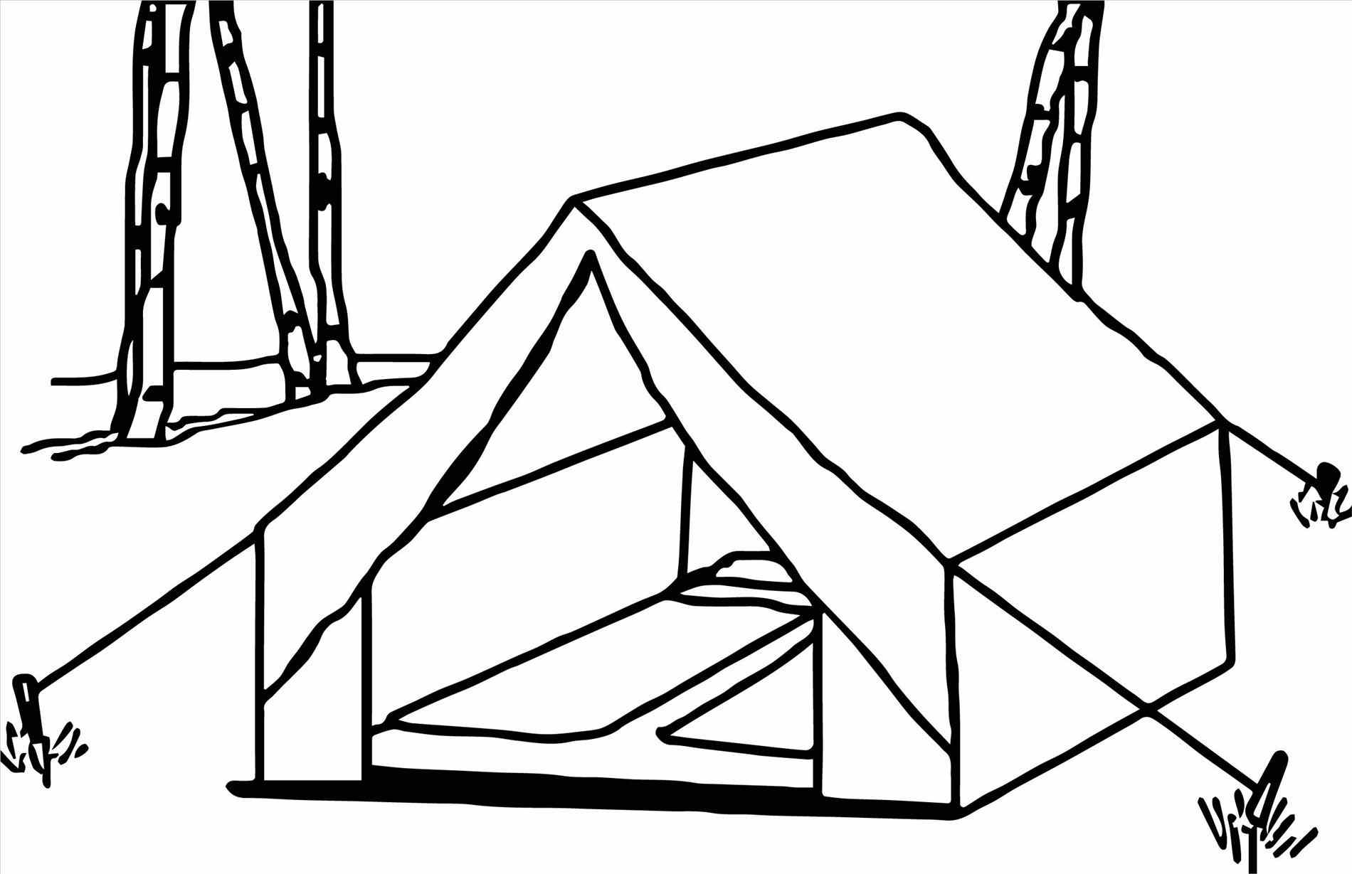 1900x1229 Camping Tent Drawing