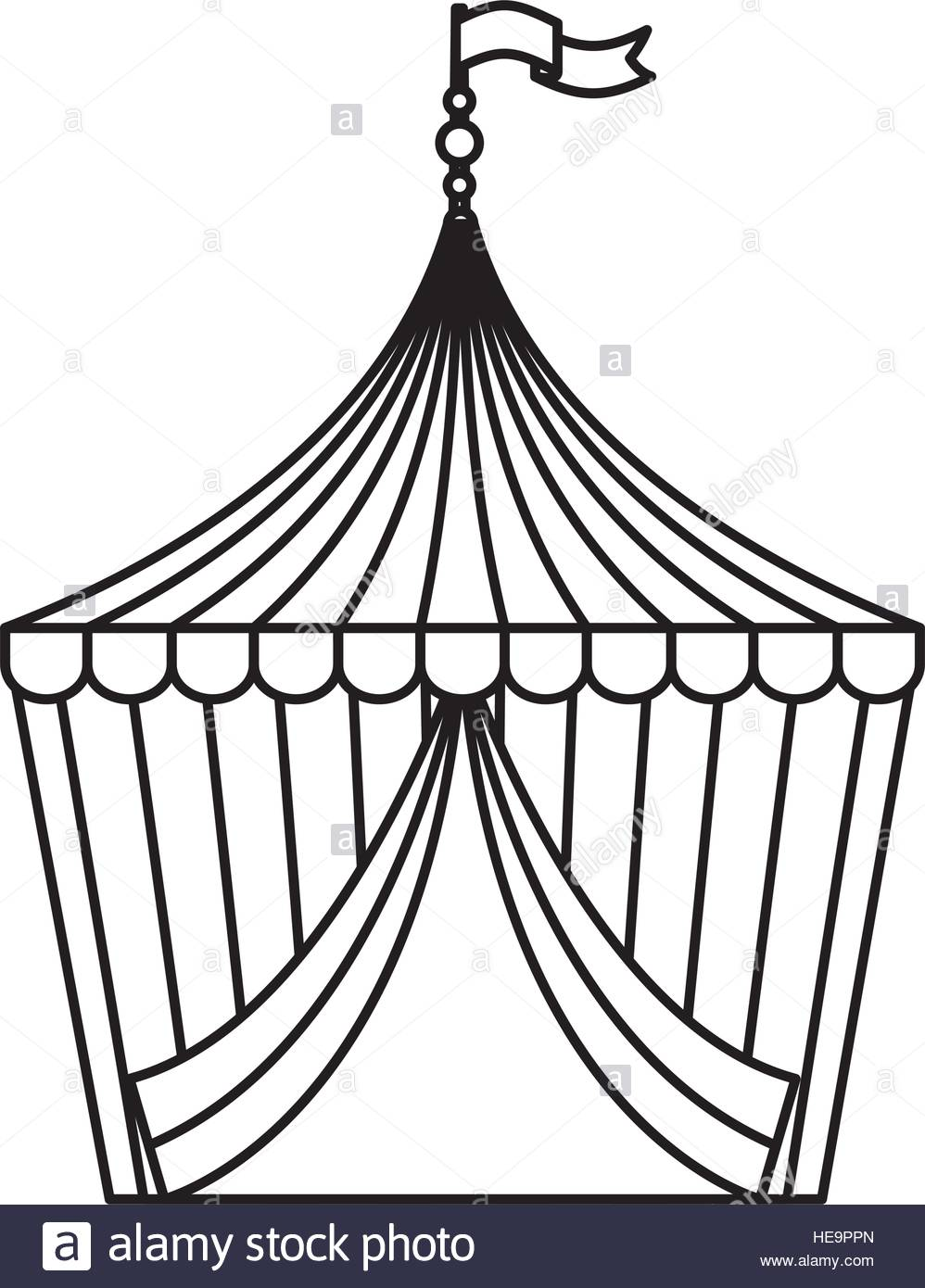 998x1390 Circus Tent Isolated Icon Vector Illustration Design Stock Vector