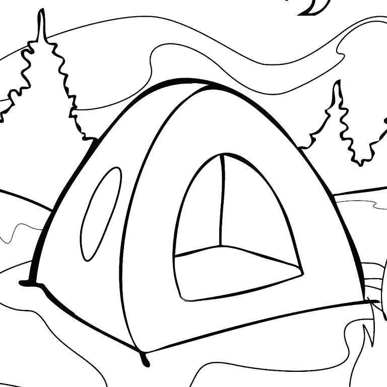 768x768 Tent Coloring Page Brexitbook.club