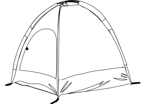 480x339 Camping Tent Coloring Page Free Printable Coloring Pages