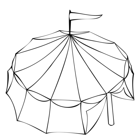 480x480 Circus Tent Coloring Page Free Printable Coloring Pages