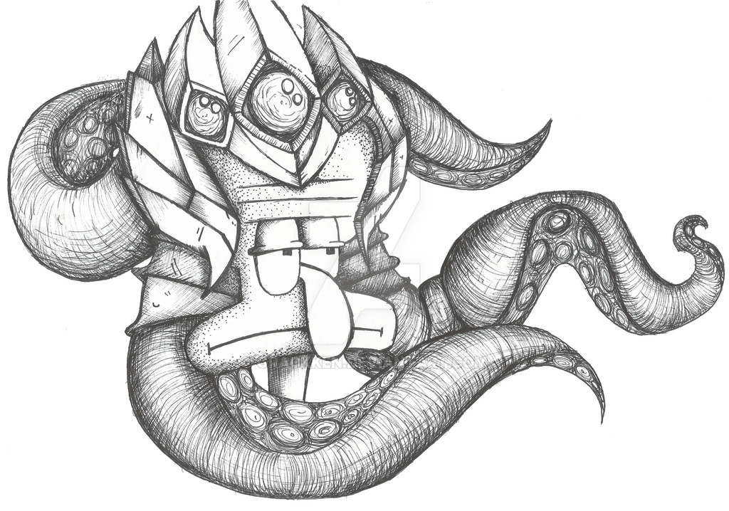 1024x718 Velkoz Tentacles By Grackken