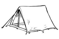 Tents Drawing