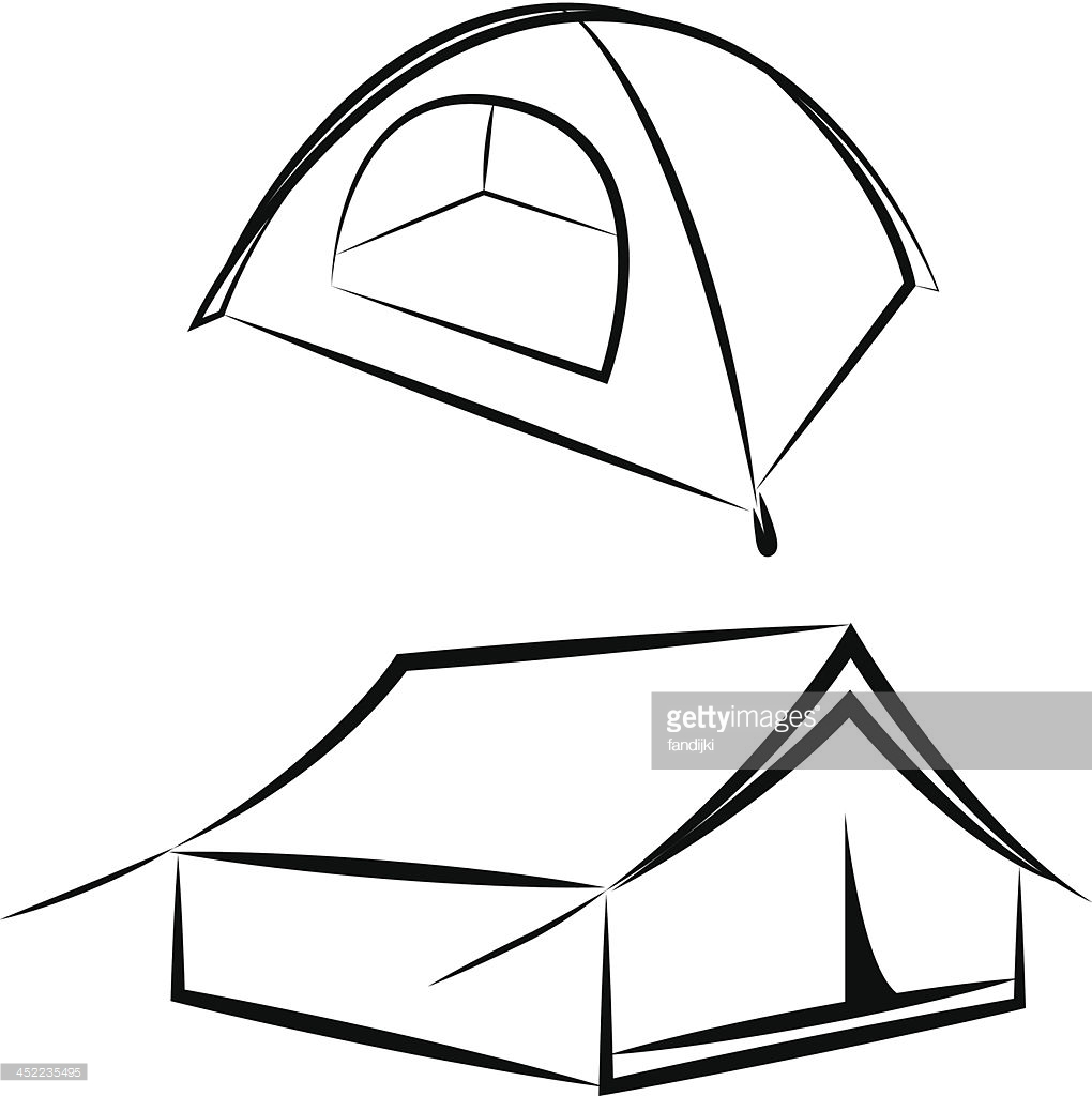 1020x1024 Drawing Of A Tent