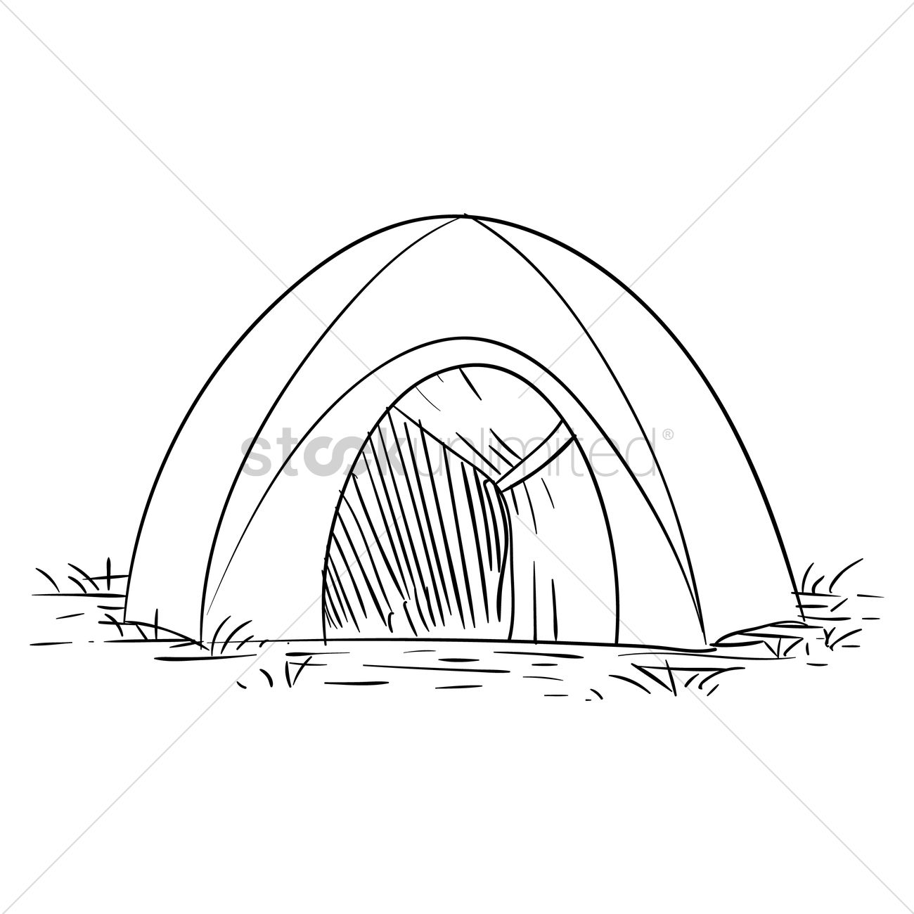 1300x1300 Free Tent Vector Image