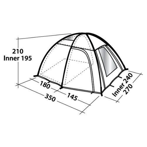 500x500 Outwell Arizona L 3 Man Dome Tent