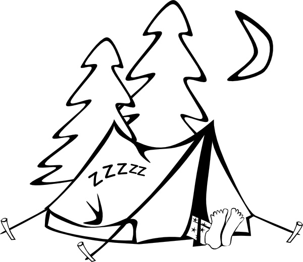 600x520 Sleeping In A Tent Clip Art Free Vector In Open Office Drawing Svg