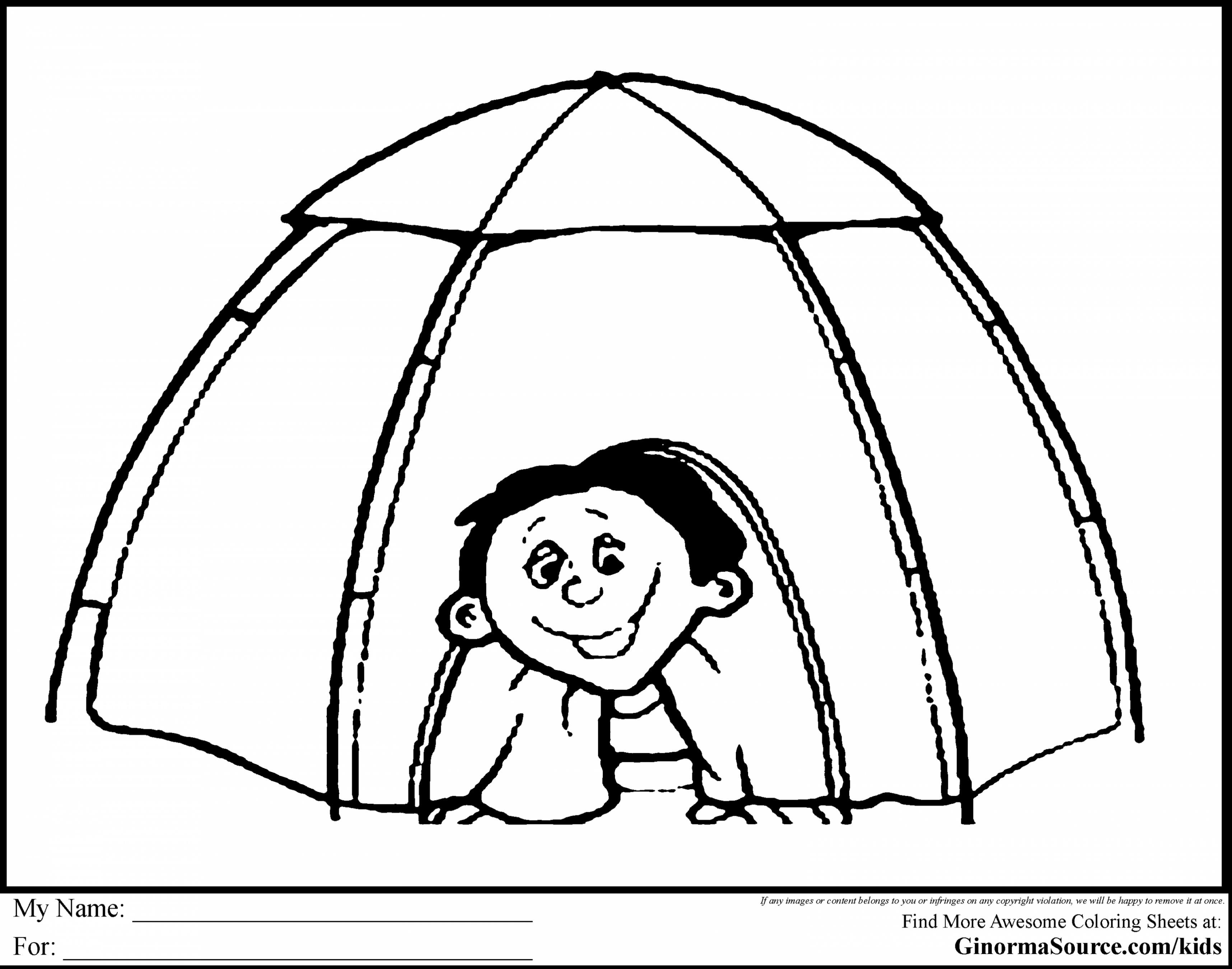 3432x2700 Tent Coloring Page Free Draw To Color