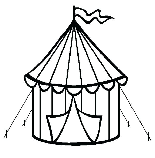 600x611 Top Rated Circus Coloring Pages Images Circus Circus Tent Coloring