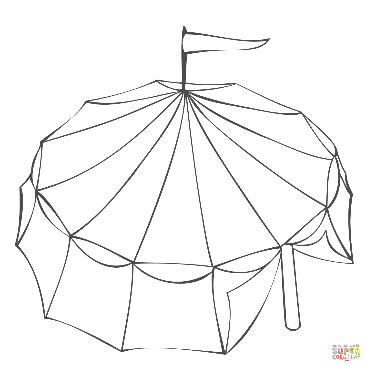1500x1500 Circus Tent Coloring Page Coloring Page For Kids