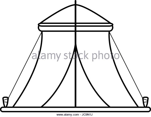 640x495 Camping Tent Leisure Campsite Black And White Stock Photos