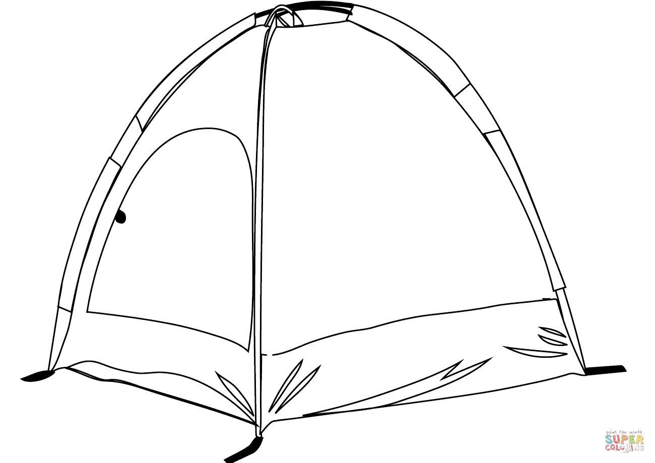 1300x919 Camping Tent Coloring Page Free Printable Coloring Pages