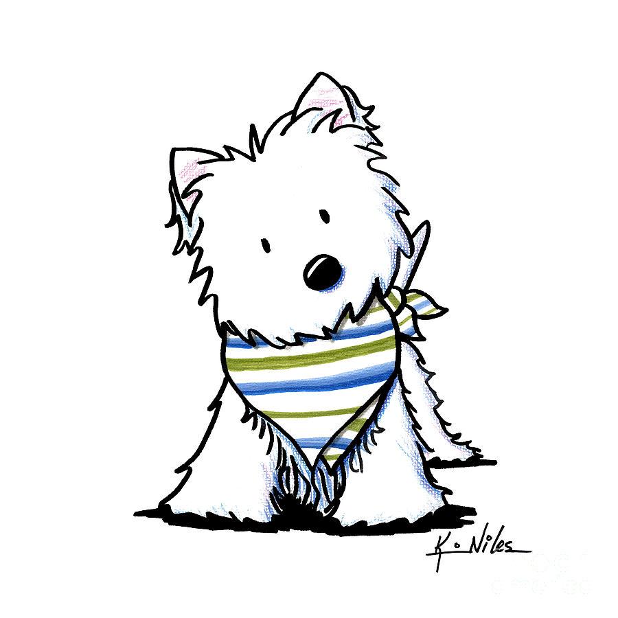 900x900 Kiniart Westie Terrier Drawing By Kim Niles