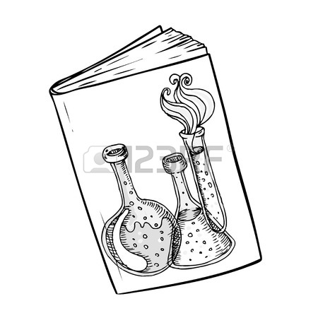 450x450 Back To School Doodle Style Science Laboratory Beakers And Test