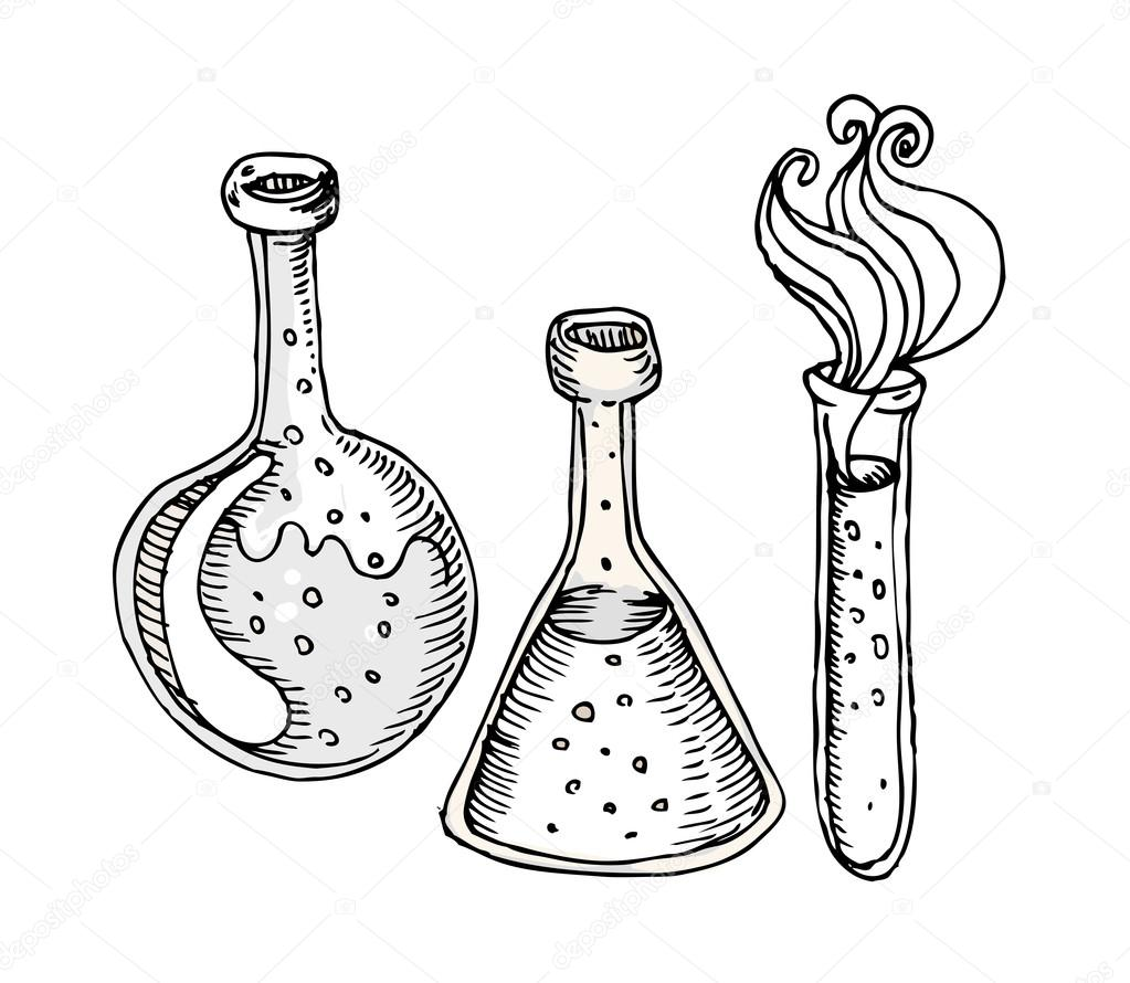 1023x890 Back To School Laboratory Test Tubes Stock Vector Vgorbash