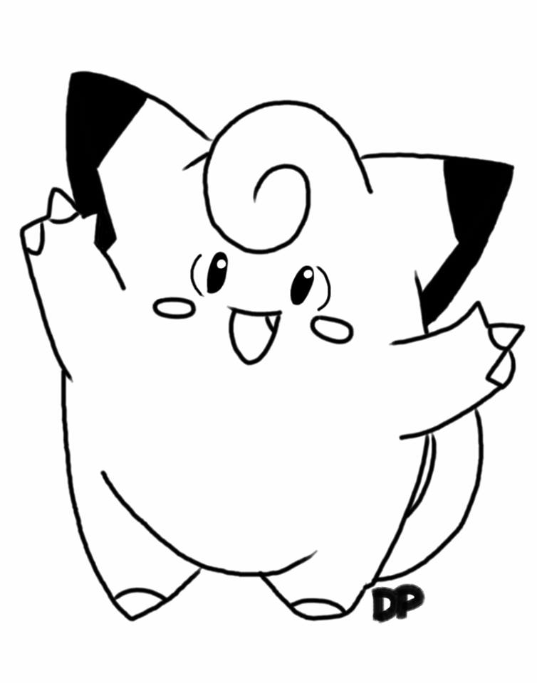 754x960 Clefairy (Test Drawing) By Doctorpikachu