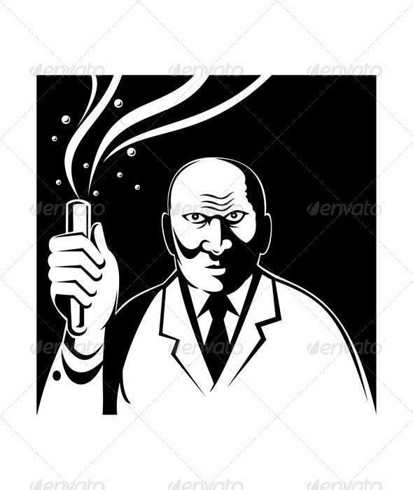 590x700 Mad Crazy Angry Scientist Test Tube Beaker Test Tubes, Font Logo