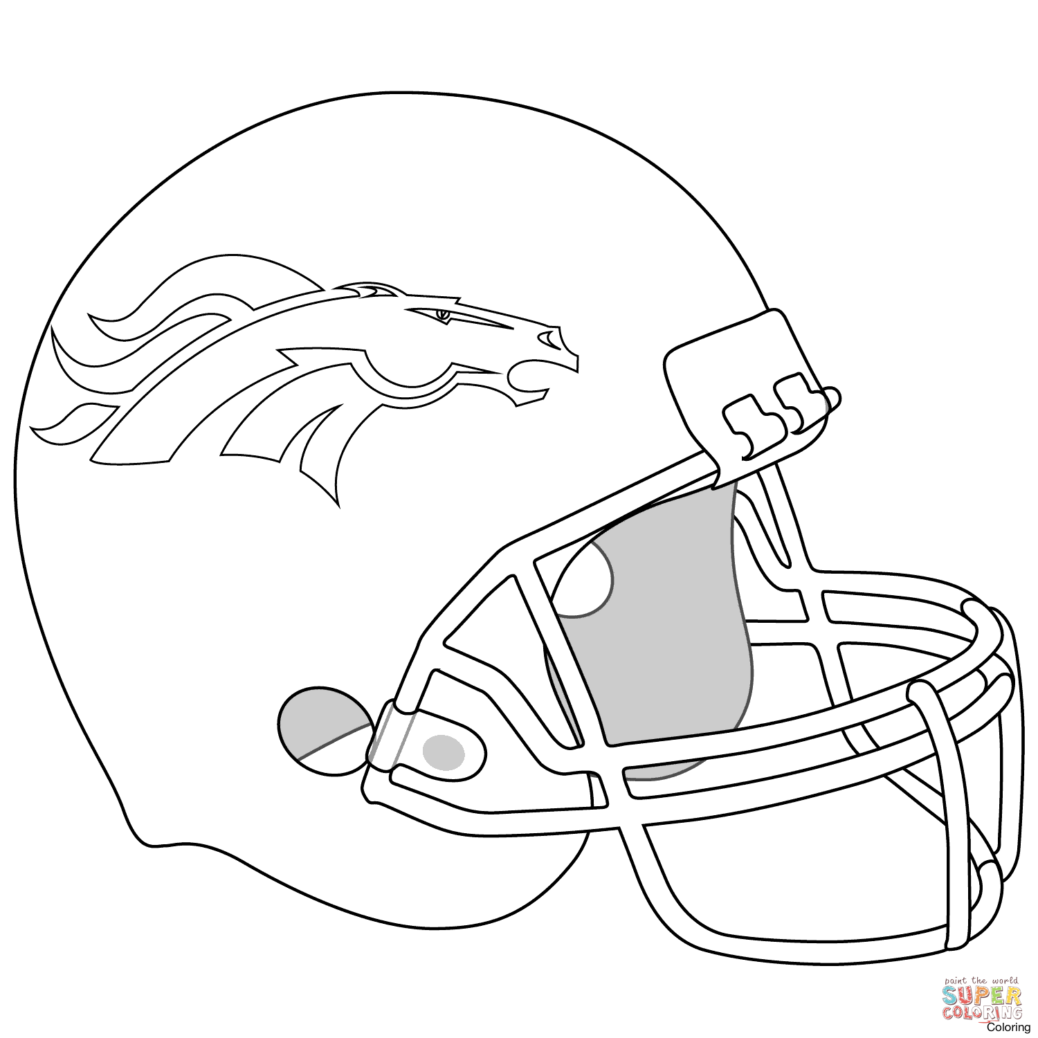 1500x1500 Denver Broncos Helmet Coloring Page Nfl Logos Pages 5f Pictures