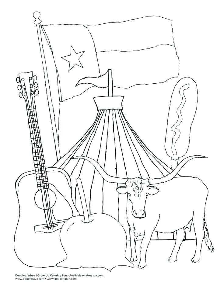 736x953 Texas Coloring Sheet You Have To Love The State Fair Of Texas